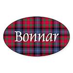 Tartan - Bonnar Sticker (Oval)