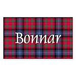 Tartan - Bonnar Sticker (Rectangle 50 pk)