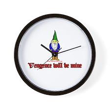 Vengence Will Be Mine Wall Clock