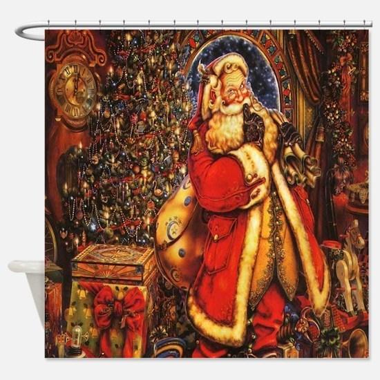Victorian Santa Shower Curtain