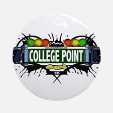 College Point Queens NYC (White) Ornament (Round)