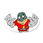 Superhero-Flying-12-[Conver.png Oval Car Magnet