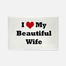 I love my beautiful wife Rectangle Magnet