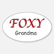 Foxy Grandma Sticker (Oval)