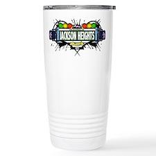Jackson Heights Queens NYC (White) Travel Mug