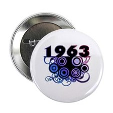 "1963 Birthday Cool Funky Art 2.25"" Button"