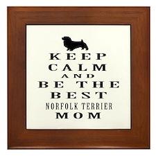 Keep Calm Norfolk Terrier Designs Framed Tile