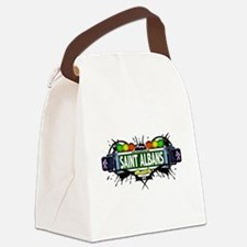 Saint Albans Queens NYC (White) Canvas Lunch Bag