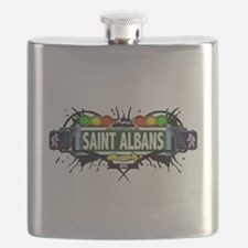 Saint Albans Queens NYC (White) Flask