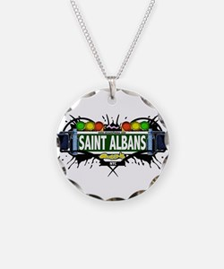 Saint Albans Queens NYC (White) Necklace