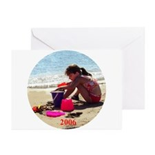 Drew at the beach 2006 Greeting Cards (Package of