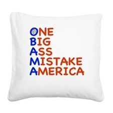 obama3.png Square Canvas Pillow