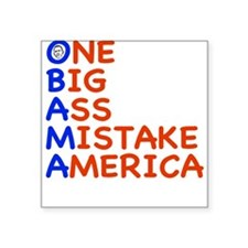 "obama3.png Square Sticker 3"" x 3"""