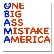 "obama3.png Square Car Magnet 3"" x 3"""