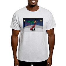Holiday Skating Ash Grey T-Shirt