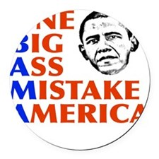 obama5.png Round Car Magnet