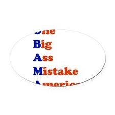 onebig1.png Oval Car Magnet