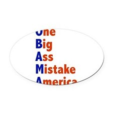 onebig2.png Oval Car Magnet