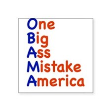 """onebig3.png Square Sticker 3"""" x 3"""""""