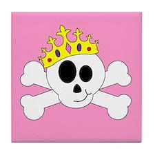 Princess Skull Tile Coaster