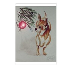 Christmas Chihuahua Postcards (Package of 8)
