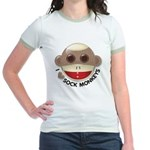 I Heart Love Sock Monkey Monkeys Jr. Ringer T-Shir