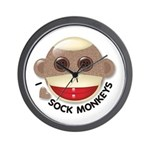 I Heart Love Sock Monkey Monkeys Wall Clock