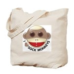 I Heart Love Sock Monkey Monkeys Tote Bag