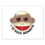 I Heart Love Sock Monkey Monkeys Small Poster