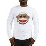 I Heart Love Sock Monkey Monkeys Long Sleeve T-Shi