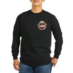 I Heart Love Sock Monkey Monkeys Long Sleeve Dark