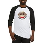 I Heart Love Sock Monkey Monkeys Baseball Jersey