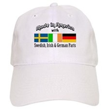 Swedish-Irish-German Baseball Cap