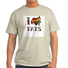 I LOVE TATS Ash Grey T-Shirt