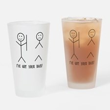 Ive Got Your back Drinking Glass