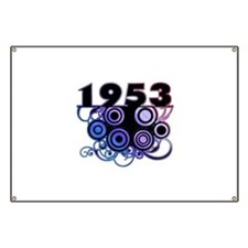 1953 Birthday Cool Funky Art Banner