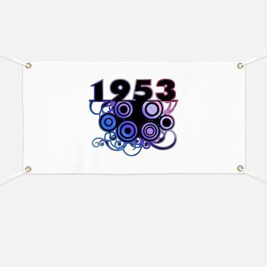 1953 Birthday Cool Funky Art Banner