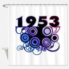 1953 Birthday Cool Funky Art Shower Curtain