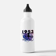 1953 Birthday Cool Funky Art Water Bottle
