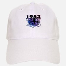 1953 Birthday Cool Funky Art Baseball Baseball Cap