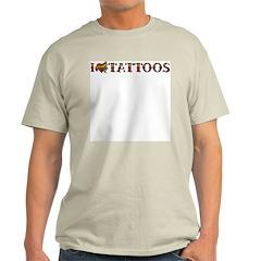 Love Tattoos Ash Grey T-Shirt
