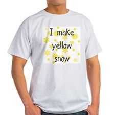 I Make Yellow Snow Ash Grey T-Shirt