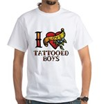 Tattooed Boys White T-Shirt