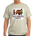 Tattooed Boys Ash Grey T-Shirt