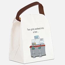2 girls bar Canvas Lunch Bag