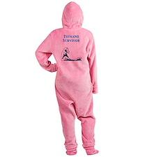tsunami_survivor.png Footed Pajamas