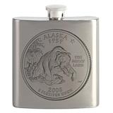 Alaska quarter Flasks