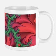 Red Berries & Thorns Fractal 11oz. Mug