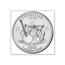 "Tennessee State Quarter Square Sticker 3"" x 3"""
