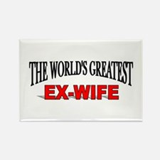 """The World's Greatest Ex-Wife"" Rectangle Magnet"